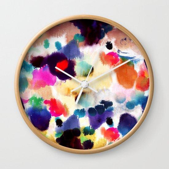 Ink Mix II Wall Clock
