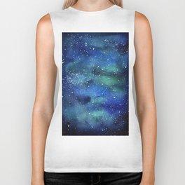 Galaxy Space Sky Watercolor Cosmic Art Biker Tank