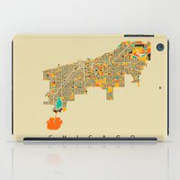 chicago map iPad Cases featuring Chicago by Nicksman