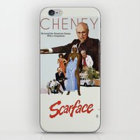 scarface iPhone & iPod Skins featuring Cheney Scarface by vipez