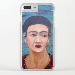 Still She Smiled Clear iPhone Case