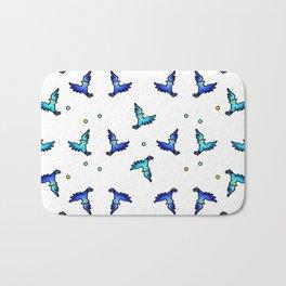 blue jays swirling Bath Mat