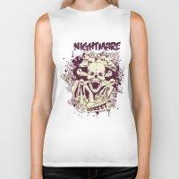 nightmare Biker Tanks featuring Nightmare by Tshirt-Factory