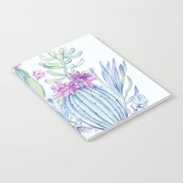Mixed Cacti Light Blue #society6 #buyart Notebook