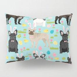 French Bulldog mixed coat easter eggs easter spring themed dog art pet portraits Pillow Sham