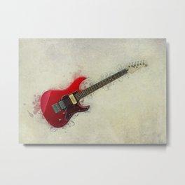 Electric Guitar Art Metal Print