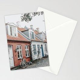Colorful Danish houses at Møllestien, Aarhus, Denmark Stationery Cards