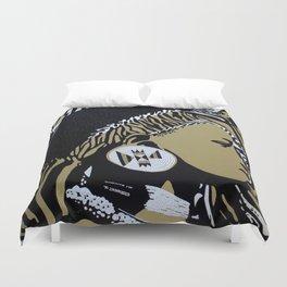 Zulu girl with zebra print 4 Duvet Cover