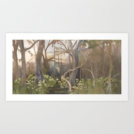 Afternoon at Manatee Springs Art Print