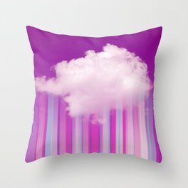 Raining Lines Throw Pillow