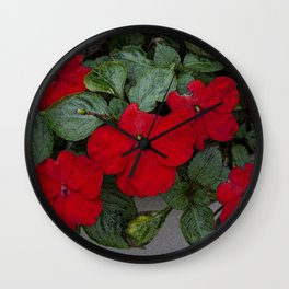 Impatiens Wall Clock
