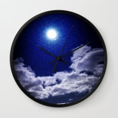 Signs in the Sky Collection I- in its original deep blue Wall Clock