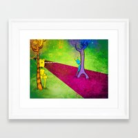 lovers Framed Art Prints featuring Lovers by KadetKat