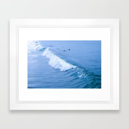 Waiting for the Perfect Wave Framed Art Print