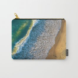 Waves on The California Coast Aerial Nature Photography Carry-All Pouch