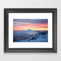 Sunrise on Mt Ngauruhoe  Framed Art Print