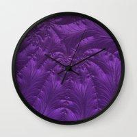 renaissance Wall Clocks featuring Renaissance Purple by Charma Rose