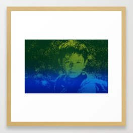 Abstract Portrait of a boy Framed Art Print