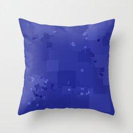Royal Blue Square Pixel Color Accent Throw Pillow