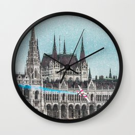 Fly to Budapest Wall Clock