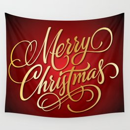 Merry Christmas Wall Tapestry