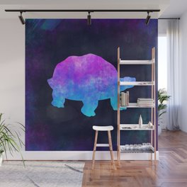 TORTOISE IN SPACE // Animal Graphic Art // Watercolor Canvas Painting // Modern Minimal Cute Wall Mural