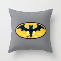 nightwing Throw Pillows featuring Nightwing by Steven Toang