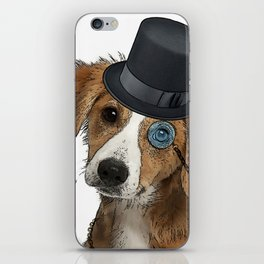 You Are My Love - Little Dog With Top Hat and Monocle iPhone Skin
