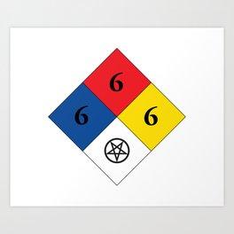 Satanic Hazard 704 Art Print