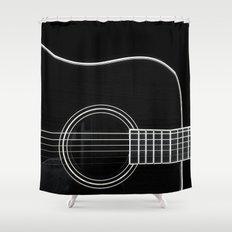 Guitar BW Shower Curtain