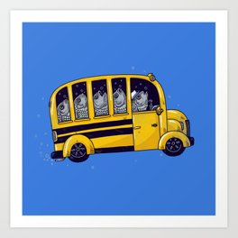 Off to School Art Print