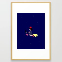 Witch in Training / Kiki's Delivery Framed Art Print