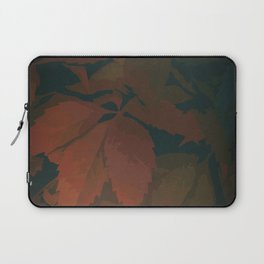Autumn Leaves in Burnt Orange, Rust Red and Forest Green Laptop Sleeve