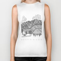 vermont Biker Tanks featuring Zentangle Sugarbush, Vermont by Vermont Greetings