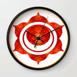Exploding Sensuality Abstract Chakra Art Wall Clock
