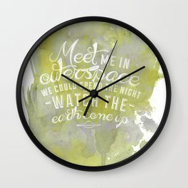 LYRICS - Meet me in outerspace - COLOR Wall Clock