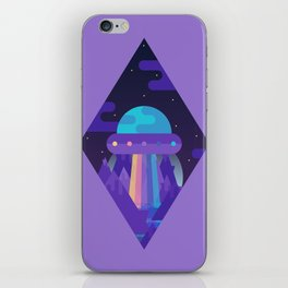 ROYGBIV Flying-Saucer iPhone Skin
