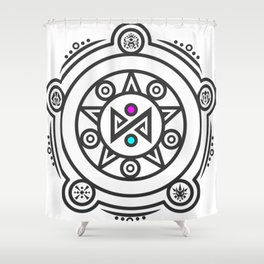 Myrolit Rune Logo Shower Curtain