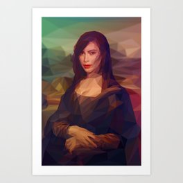 La Gioconda / Kim Kardashian / Mona Lisa Art Print