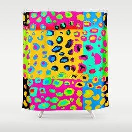 colorpop leopard Shower Curtain