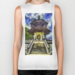 The Pagoda Vincent Van Gogh Biker Tank