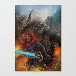 Nath Dragon and Brenwar Boulderguild Canvas Print