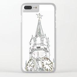 Kremlin Chimes- white Clear iPhone Case