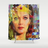 wonder Shower Curtains featuring Wonder by Joe Ganech