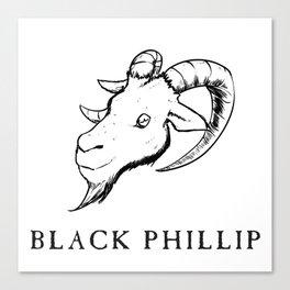 Black Philip III Canvas Print