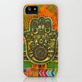 Boho & Batik Hamsa iPhone Case