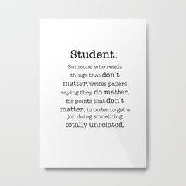 Student definition Metal Print