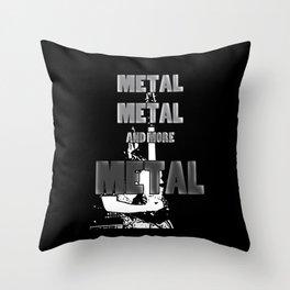 Metal, Metal and More Metal Throw Pillow