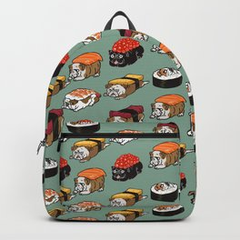 Sushi English Bulldog Backpack