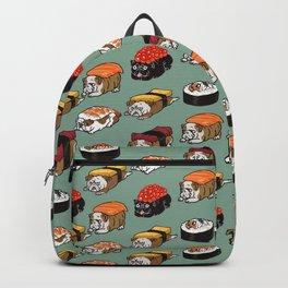 Sushi English Bulldog Backpack